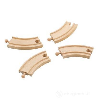 Binari curvi corti (4pz.) (82457)