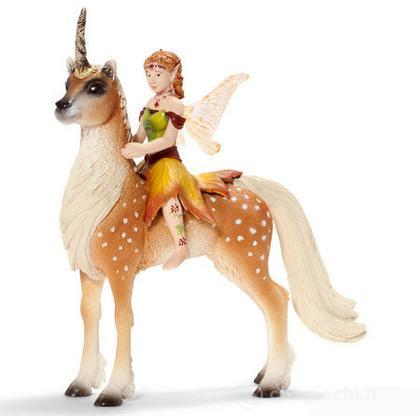 Elfo femmina su unicorno del bosco (70460)