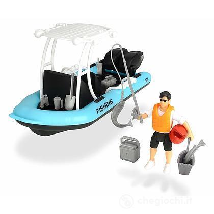 Barca da pesca 1:24 con personaggio articolato e accessori (203833004)