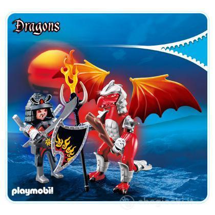 Drago Fuoco Con Guerriero (5463)