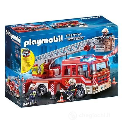 Camion autoscala dei Vigili del Fuoco con luci e suoni (9463)