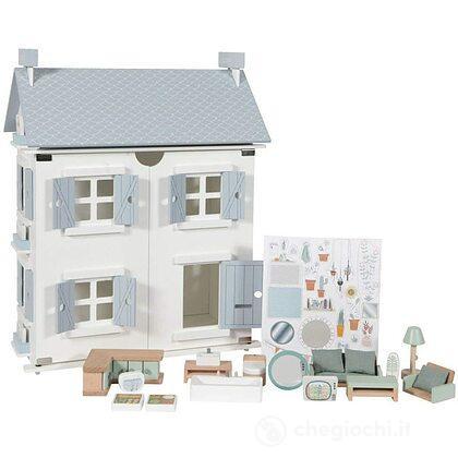 Casa delle bambole in legno - 25 pezzi (LD4466)