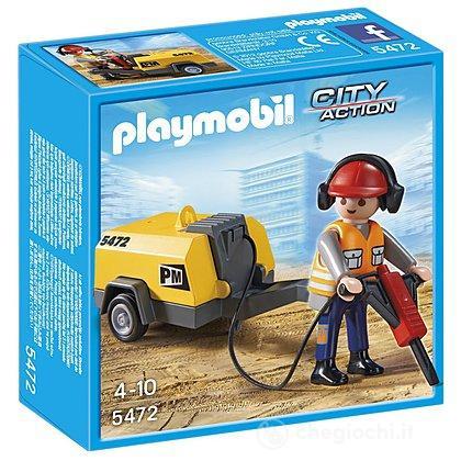 Lavoratore con martello pneumatico (5472)