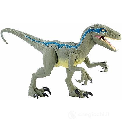 Jurassic World Dino Rivals Velociraptor Blu Dinosauro 37 cm (GCT93)