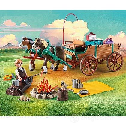 Carro9477Playmobil Di Con Con Padre Di Lucky Carro9477Playmobil Lucky Padre Con Padre Di Lucky WH9IED2
