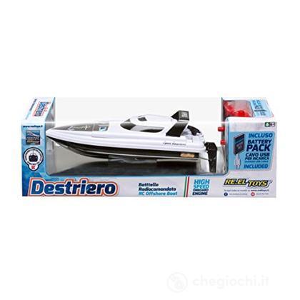Destriero Bianco Motoscafo 32 Cm Funzione Turbo (Modellino Radiocomandato)