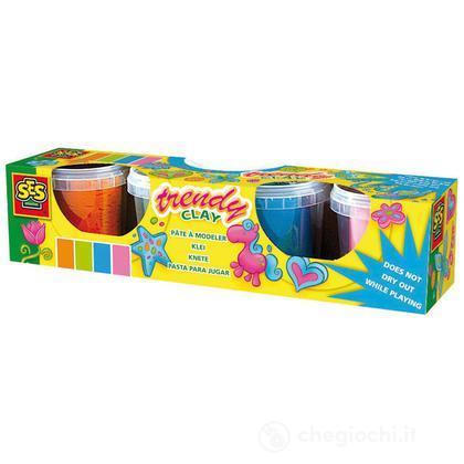 4 vasetti pasta x modellare colorata