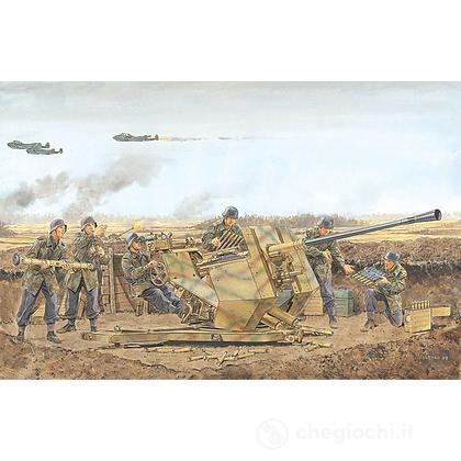 Cannone automatico tedesco della II Guerra Mondiale Flak 37 scala 1:35 (6483)