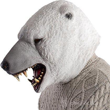 Maschera orso bianco in lattice