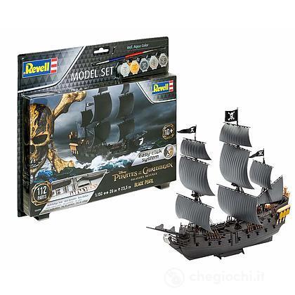Nave Model Set Black Pearl Pirati Dei Caraibi Disney 1/1200 (RV65499)