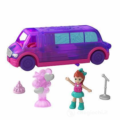 Polly Pocket Festa in Limousine, Playset Veicolo Richiudibile (GGC41)