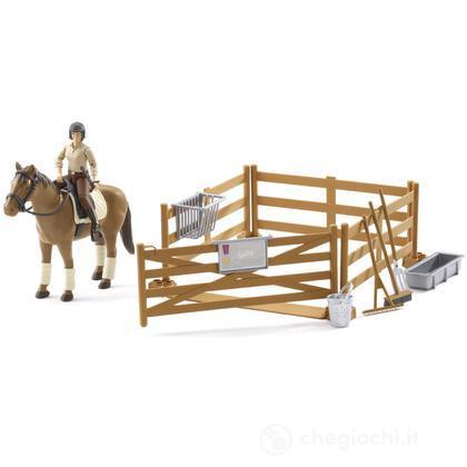 Personaggio, cavallo con accessori (62500)