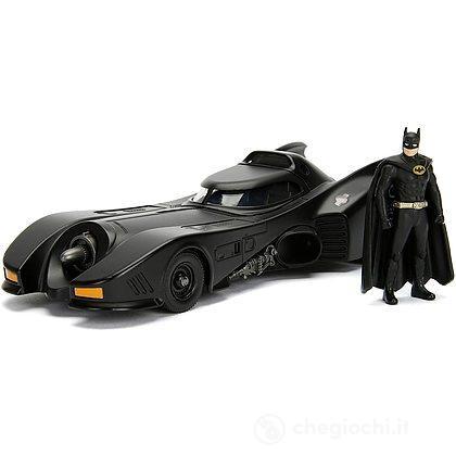 Batman Batmobile Del 1989 In Scala 1:24 Con Personaggio Batman In Die Cast