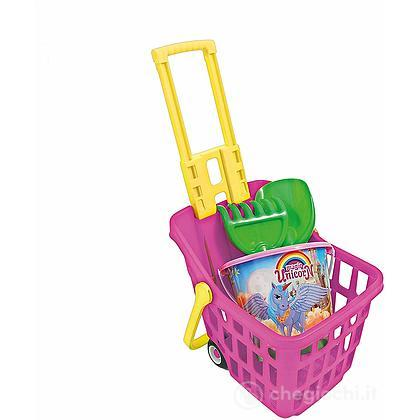 Adriatic - trolley spesa pi secchiello diam 18 unicorno con accessori 945 adriatic - 49634