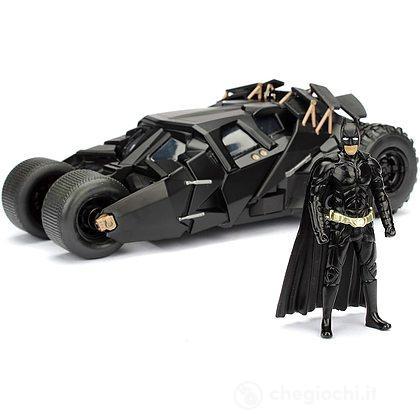 Batman The Dark Knight Batmobile In Scala 1:24 Con Personaggio Di Batman In Die Cast