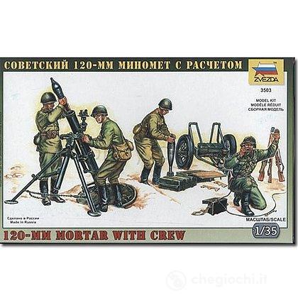 120 mm Mortaio con soldati 2 Guerra Mondiale 1/35 (3503)