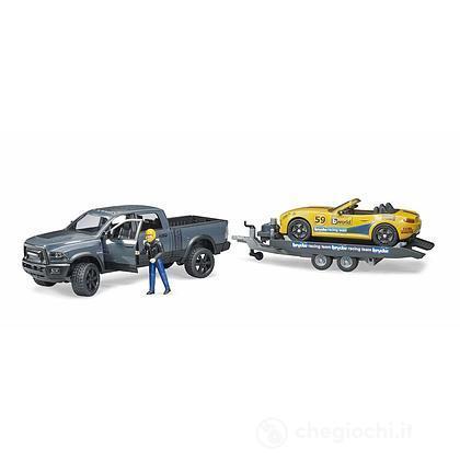 Auto Pick-Up con rimorchio + Auto (2504)