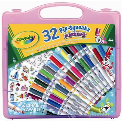 Valigetta 32 pennarelli lavabili e adesivi (10506)