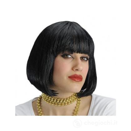 Parrucca nera lisci corti (02506)