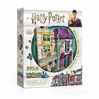 3D Puzzle Harry Potter Madam Malkin's & Florean Fortecsue's Ice Cream 290 pezzi (W3D-0510)