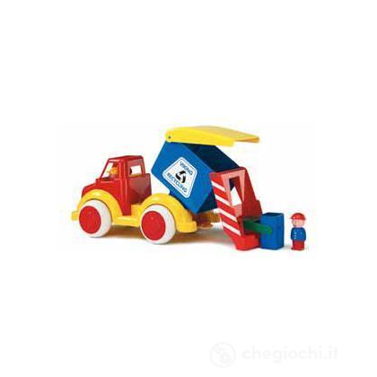 Super camion - camion nettezza urbana con 2 personaggi
