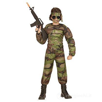 Costume Soldato Muscoloso 8-10 anni