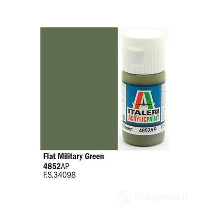 Colore acrilico verde militare Flat Military Green 20 ml (4852AP)