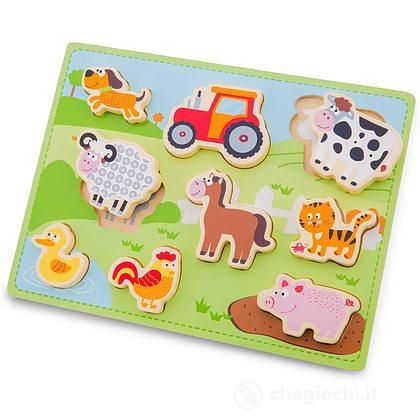 Puzzle legno animali della fattoria (10521)