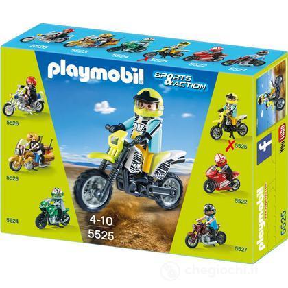 Moto da cross con centauro 5525 prima infanzia playmobil giocattoli - Moto cross playmobil ...