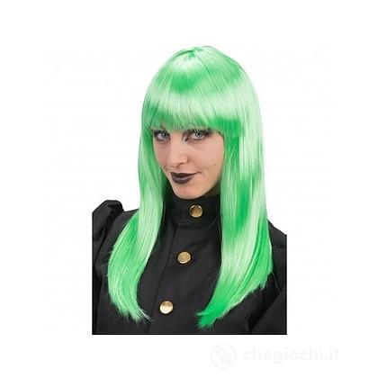 Parrucca lunga liscia verde (02529)