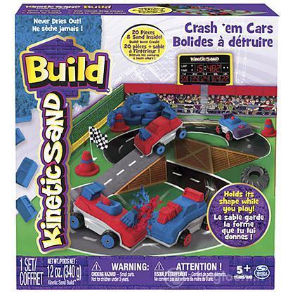 Kinetic Sand BUILD Playset auto da scontro (6026967)