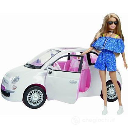 Barbie Fiat 500 Fvr07 Barbie Mattel Giocattoli