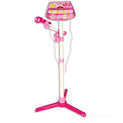 40 4071 - I Girl - Microfono Da Palcoscenico.Con Asta Regolabile, Effetto Applausi E Brusio Di Folla