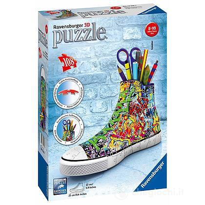 Puzzle 3d Sneakers Graffiti Style