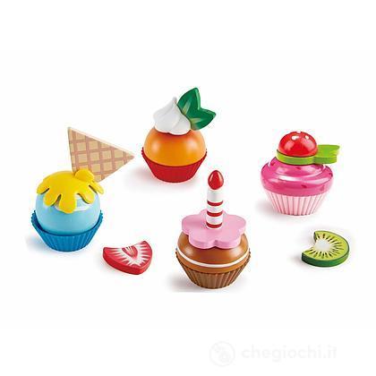 Dolci Cupcakes in legno (E3157)