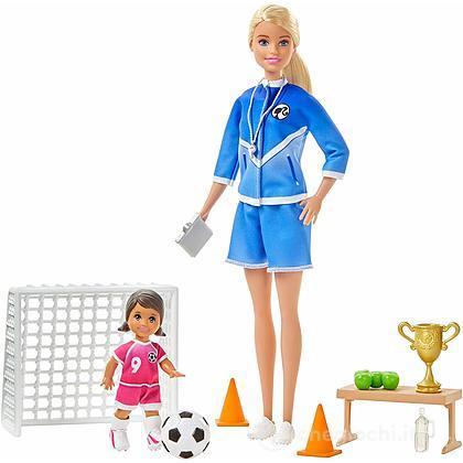 Barbie Playset Allenatrice di Calcio con 2 Bambole e Accessori (GLM47)
