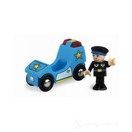 Auto polizia luci e suoni