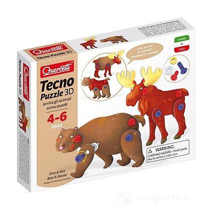 Orso & Renna Tecno Puzzle 3D (0542)
