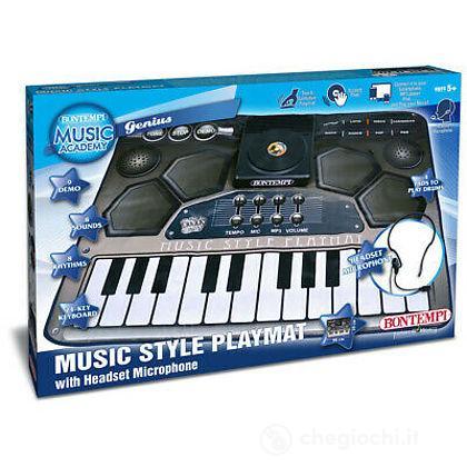 54 2010 - Tappeto Musicale Elettronico, Con Tastiera A 24 Tasti 4 Pads E Scratch Pad Con 3 Effetti Sonori. 8 Suoni, 8 Ritmi, 9 Brani Preregis