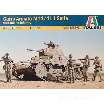 Carro armato M14/41 con soldati italiani. Scala 1/35 (IT6543)