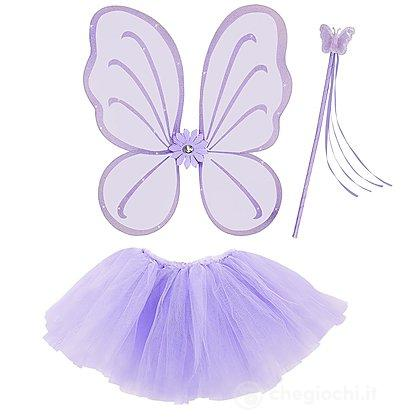 Set Farfalla Fatina viola