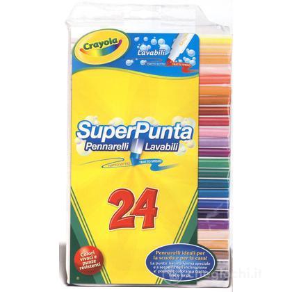 24 Pennarelli Superpunta Lavabili (7551)