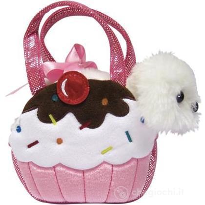 Borsetta con Cupcake Rosa 20 cm (20287708)