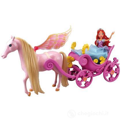 Winx Bloom principessa con carrozza (CCP13140)