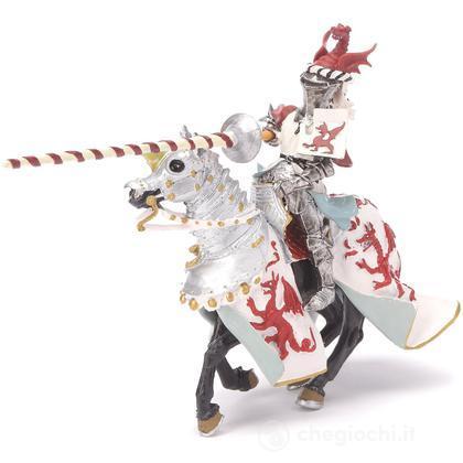 Cavalieri - Cavaliere drago rosso a cavallo