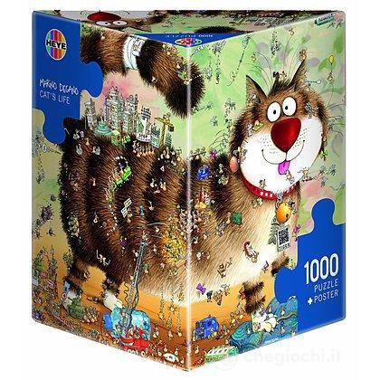 Puzzle 1000 Pezzi Triangolare - Vita da Gatti