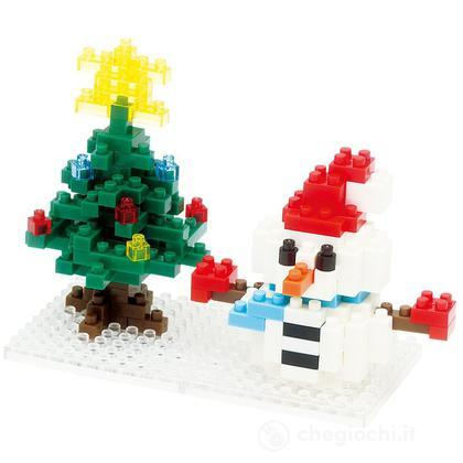 Pupazzo Di Neve E Albero Di Natale