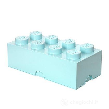 Contenitore LEGO Brick 8 Azzurro Acqua