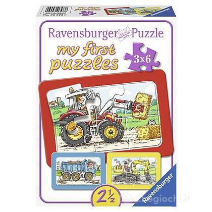 Escavatrice,trattore e camion ribaltabile (6573)