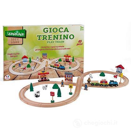Pista Treno in Legno 40 Pezzi (36573)